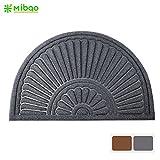 Mibao Half Round Entrance Door Mat, 24 x 36 inch Large Non-Slip Welcome Front Outdoor Rug, Doormat for Entry, Patio