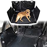 Sunluway Jeep Wrangler JK JKU 2007-2018 Car Pet Seat Cover Hammock with Waterproof Stain-Resistant Hypoallergenic Odorless Heavy Duty Oxford 4-Door or 2-Door(Black)