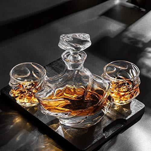 KANARS Emperor Whiskey Decanter And Glasses Set With Luxury Gift Box For Scotch + Bourbon + Liquor, 5-Piece, Original by KANARS (Image #9)