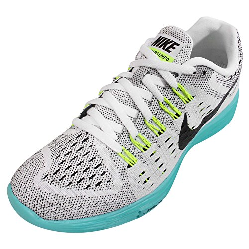 Nike Dames Maantempo Loopschoenen Wit, Licht Aqua, Volt, Zwart