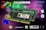 Certified Apple HyperVelocity® 16GB 2X8GB DDR3-1066 (DDR3-1067) SODIMM 8500MHz PC3-8500. For 13