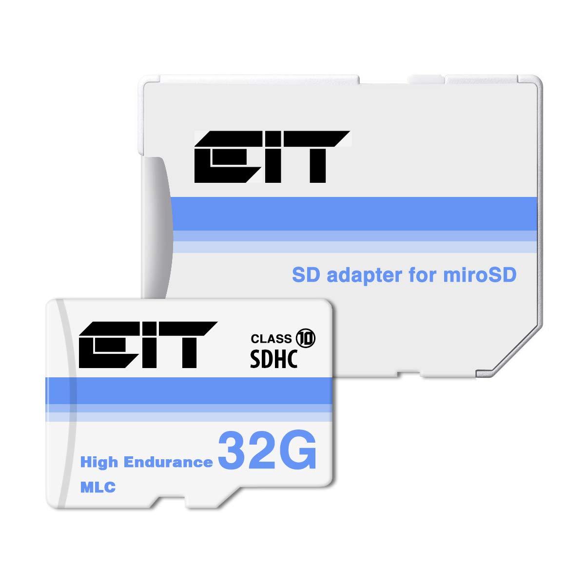 高耐久 microsd カード 32gb class10 ドライブレコーダー 向け メモリ [ MLC フラッシュ採用 ] メモリーカード sdhc マイクロsdカード 防水 純正SDカード 変換アダプタ付き