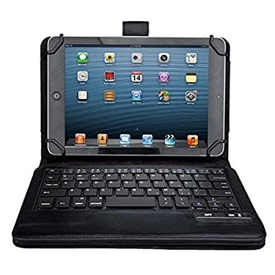 """iClever® Universal Bluetooth Keyboard Case Cover For 7"""" 8"""" 7.9"""" inch Tablet PU Leather, including iPad Mini, 2 ; Samsung Galaxy Tab3, Tab 4; Google Nexus 7; Dell Venue 8 Pro; Acer Iconia Tab A100 from iClever"""