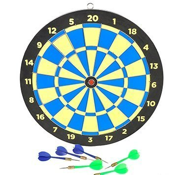 15 Wooden Dart Board Darts