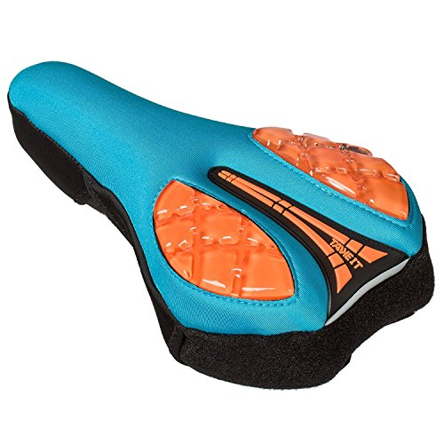 "Gel Bike Seat Cushion Cover Pad for Narrow Seat Bikes | ""Take It"" Premium Quality with Reflective Strip for Increased Safety 