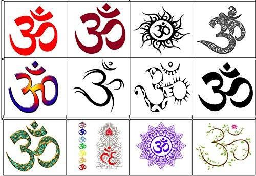 India Collection (Aum Om Temporary Tattoos) (Om Tattoo)