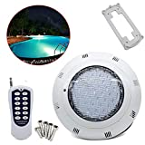 NOPTEG LED Swimming Pool Light Underwater Light 7 Colors RGB Submersible Lights Submersible Colour Changing Led Light Waterproof Pond Light + Remote Control(45W)
