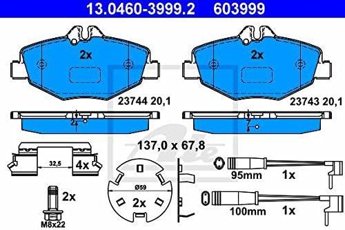 13.0460-3999.2 ATE BREMSSCHEIBE BEL/ÜFTET /Ø295+BREMSBEL/ÄGE+VWK VORNE 24.0128-0176.1