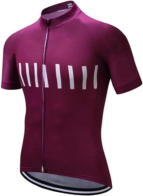 Jersey de Ciclismo de Manga Corta para Hombre con Bolsillos Blusas de Bicicleta de montaña de Verano Camisa de MTB Transpirable Jerseys de Ciclismo de Secado rápido: Amazon.es: Deportes y aire libre