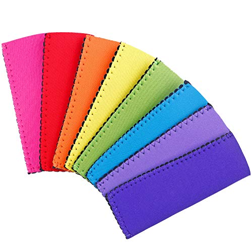 24 Pack Neoprene Freezer Pop Sleeve Ice Pop Sleeve Popsicle Holders BPA-Free for Kids Party Drink - 8 Colors by ONEONEY