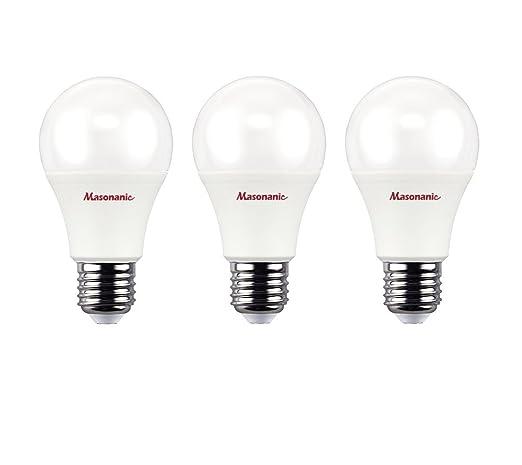 masonanic 3 paquetes luz LED Bombilla A60 E27 rosca Edison 10 W reemplazar 60 W suave