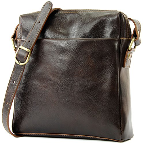 Unisex De T127a Dunkelbraun Leather T127 Messenger Ital Bag Modamoda wIfqv6x6