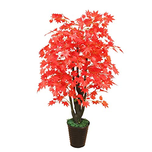 - Simulation Plant Potted Artificial Maple Interior Decoration Fake Tree Living Room Decoration Fake Bonsai (Color : Red, Size : 5132 inches)