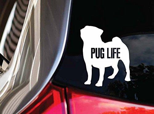 pug window decal - 8
