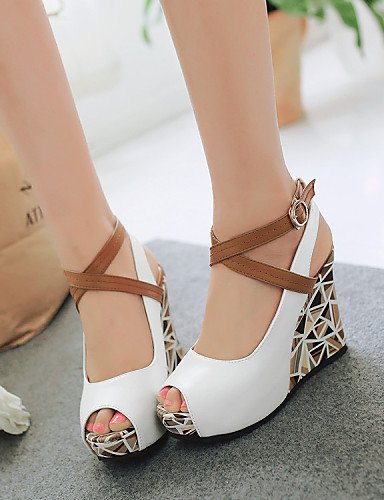 ... ShangYi Womens Shoes Leatherette Wedge Heel Wedges / Peep Toe / Platform  / Gladiator / Comfort