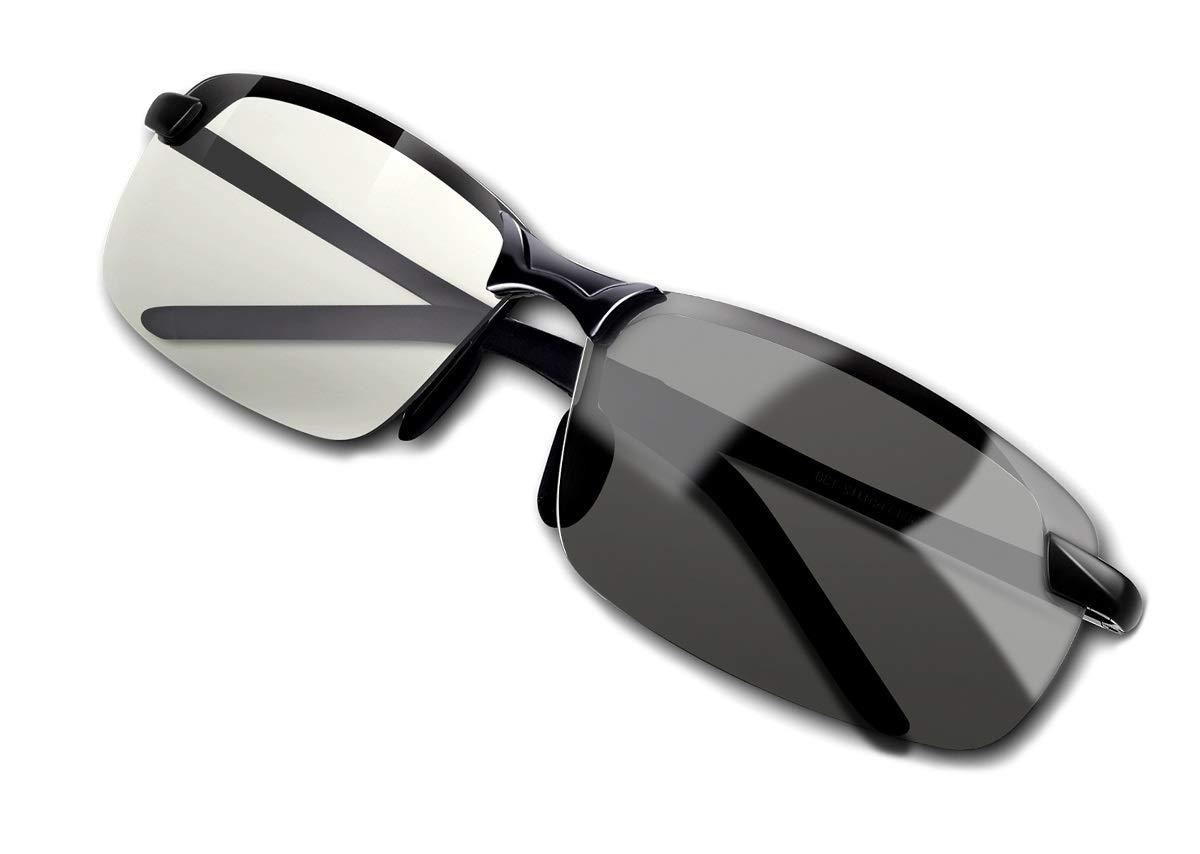 Gafas de sol polarizadas de conducción de moda para hombres para conducción diurna y nocturna, pesca, golf, deporte al aire libre, protección 100% UV400