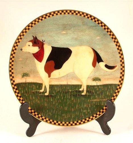 Warren c1994 Lenox Barnyard Dog Plate from Kimble Barnyard Animals - CP913