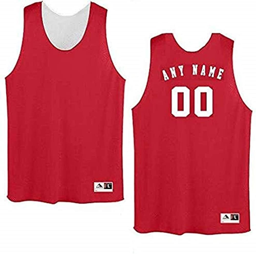 Augusta Sportswear//All-Star Sportswear Authentic Sports Shop Red//White Adult 3XL Customized Basketball Jersey; Name /&//or Number