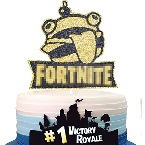 Minecraft Hamburger Head (Video Game Cake Topper Happy Birthday Hamburger Head Victory Floss Dance Theme Party Decor Perfect for Baby Shower Child Birthday Party Supplies)