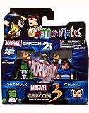 Minimates: Marvel vs Capcom 3 Series 3 She-Hulk vs Chun Li Action Figure 2-Pack