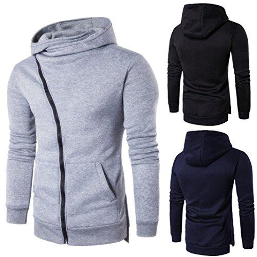 Men Zipper Hoodie Sweatshirt, Keepfit Cozy Coat Pocket Drawstring Outwear Pullover Tops