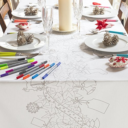 Doodle Christmas Tablecloth (X-Large)