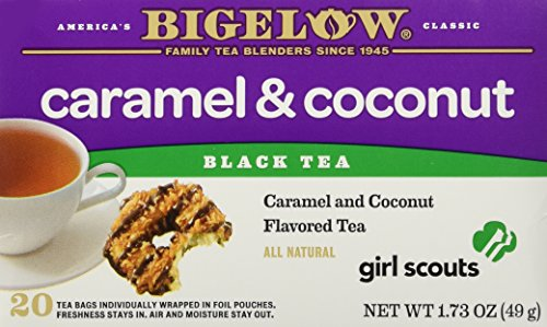 aramel & Coconut Cookie Flavor Black Tea, 1 Box with 20 Bags ()