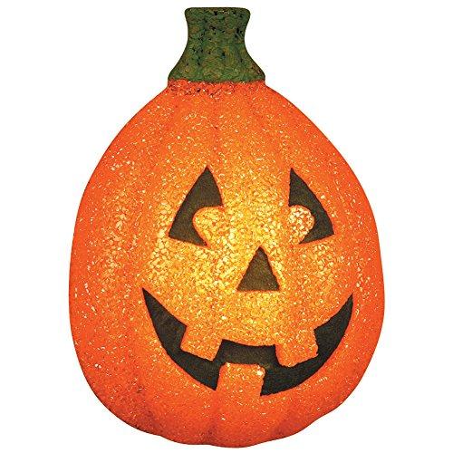 Halloween Decor Discount ((Set/2) Sparkling Pumpkin Porch Light Covers Jack-O-Lantern Halloween Décor)