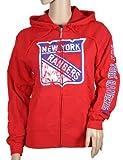 New York Rangers NHL Womens Hooded Fleece Jacket, Red