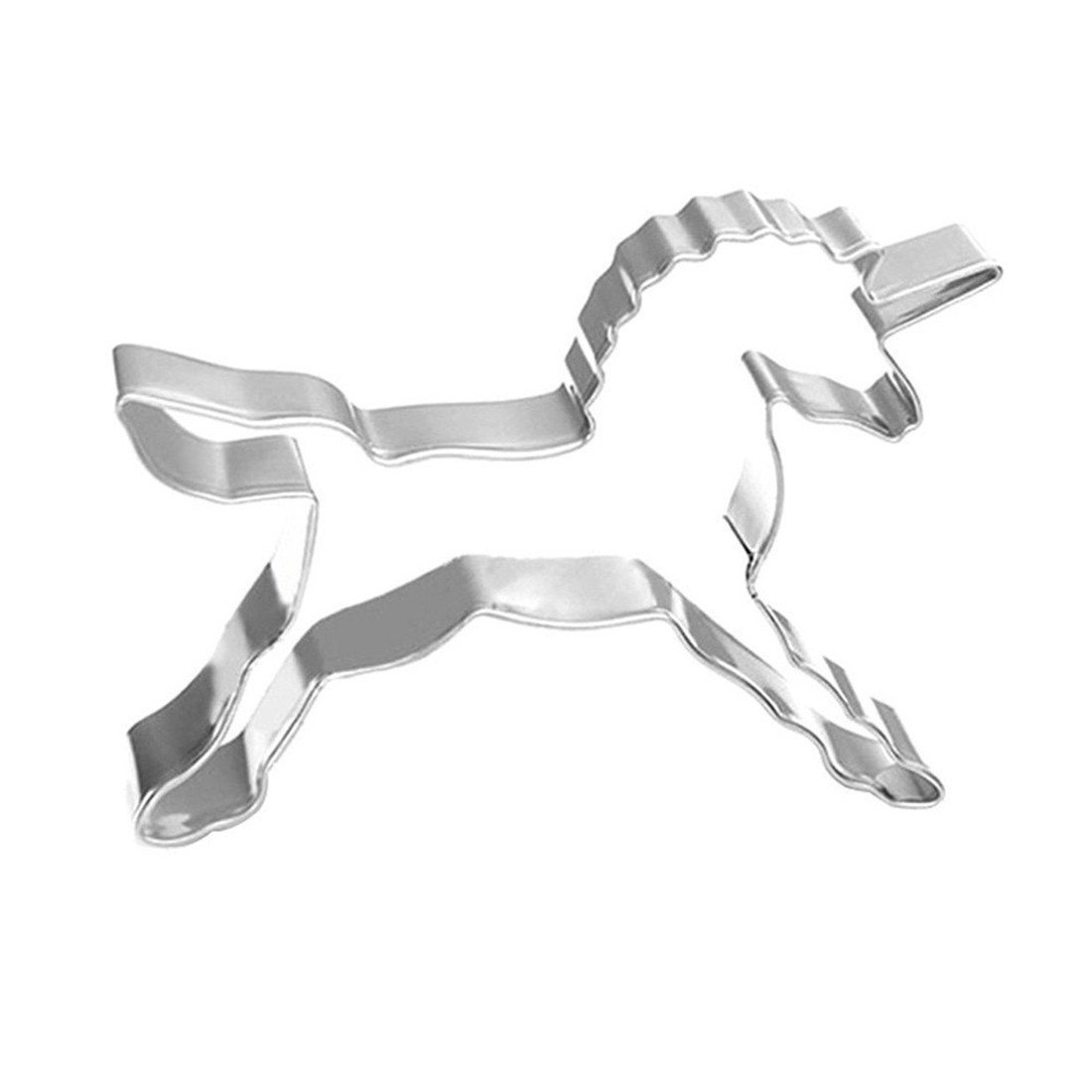 VWH Unicorn Cookie Cutter Biscuit Mold, Stainless Steel