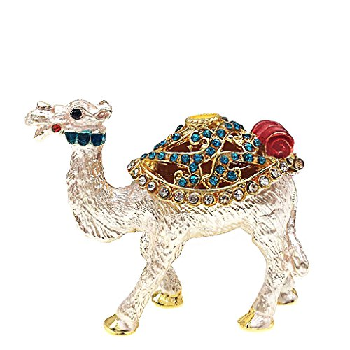 Waltz&F Bejeweled Camel Trinket Box Hand Painted Collecti...
