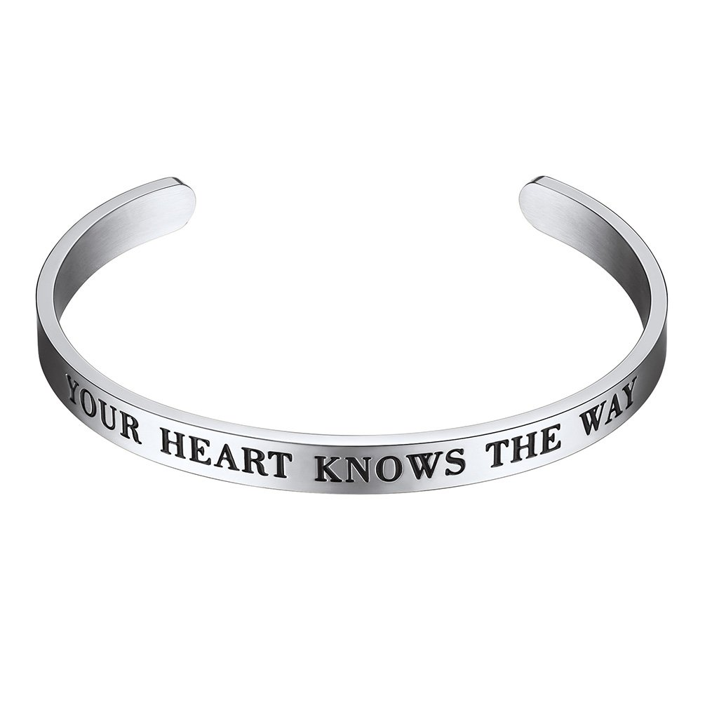 PROSTEEL Cuff Bracelet,Your Heart Knows The