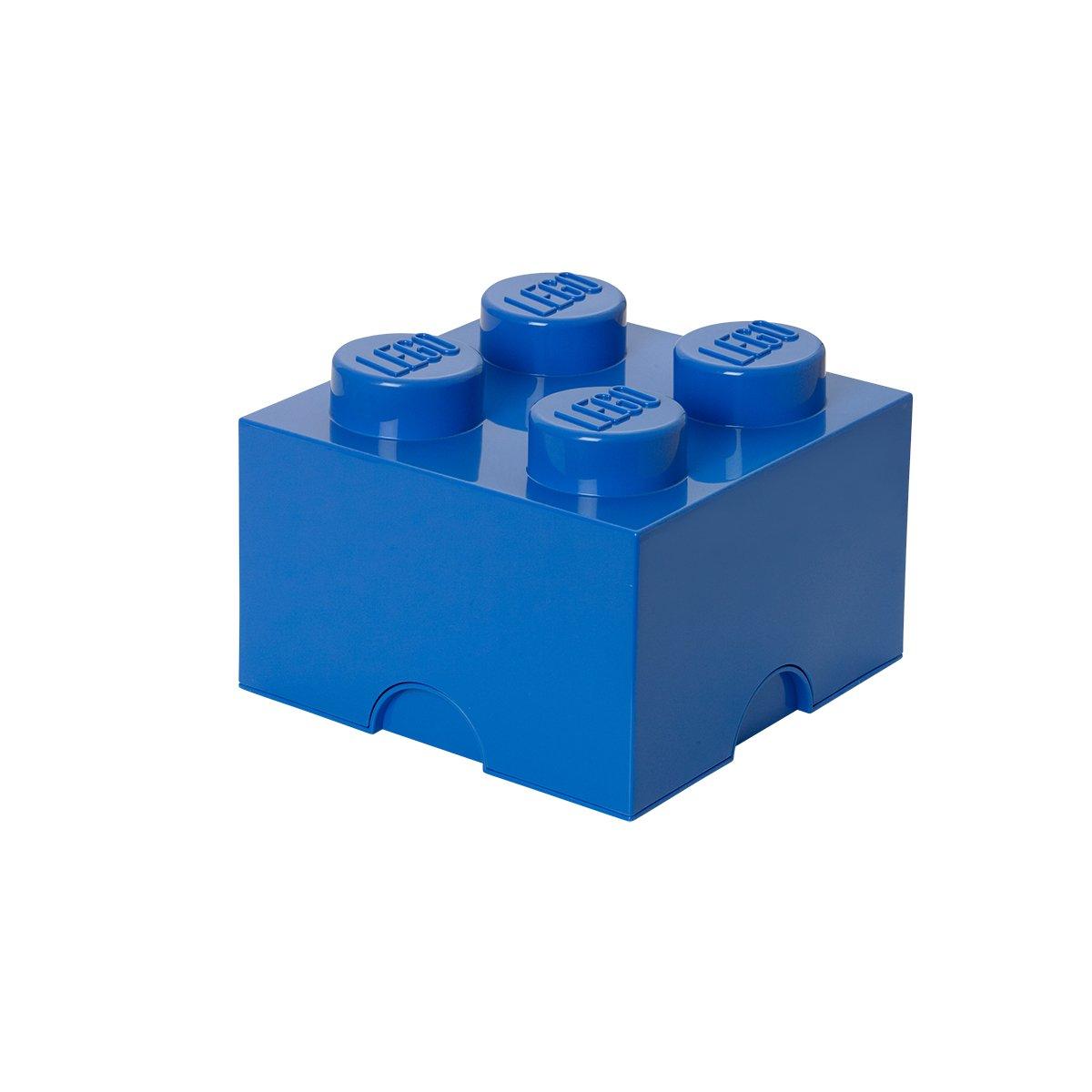 LEGO Storage Box Brick 4 Bright Blue, 4 Knobs
