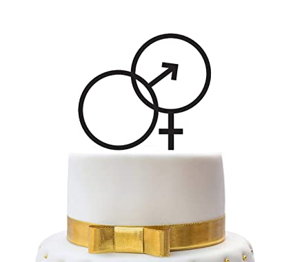 Amazon Funlaugh Man And Woman Symbol Wedding Cake Toppers For