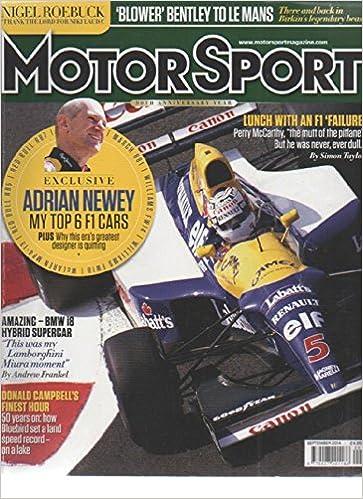 Motorsport Magazine September 2014 Adrian Newey My top 6 F1