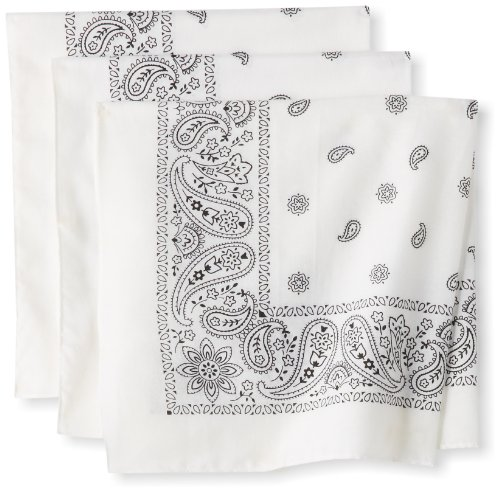 Levi's Men's 3 Pack 100% Cotton Bandana Headband Gift Sets, White, One Size]()