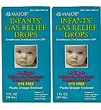 MAJOR Infants Gas Relief Drops SIMETHICONE-20 MG/0.3 ML White 30 ML UPC 309045894309 (2 Pack)