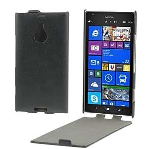 Litchi Texture Vertical Flip Leather Case for Nokia Lumia 1520 (Black)