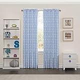 Eclipse Kids 15937042X063BLU Cozy Cumulus 42-Inch by 63-Inch Single Window Curtain Panel, Blue
