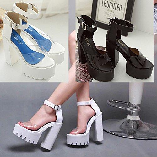 tacón sandalias de sandalias tacón black ZHZNVX nuevas alto los audaces y mujer zapatos La de y wHX1xCqAH