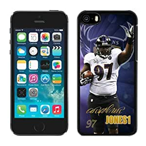 Cheap Iphone 5c Case NFL Sports Baltimore Aravens Arthur Jones 01 New Fashion Design Cellphone Protector