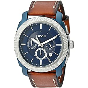 Fossil Machine Chronograph Blue Dial Men's Watch – FS5232