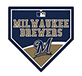 "Milwaukee Brewers MLB 9.25"" x 9.25"" Home Plate Sign"