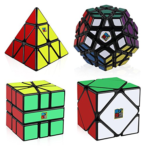 Special Edition Cube Black (D-FantiX Speed Cube Bundle, Moyu Mofang Jiaoshi Megaminx Pyramid Skewb Square-1 Cube Magic Cube Set Moyu Cubing Classroom Gift Box (Black))