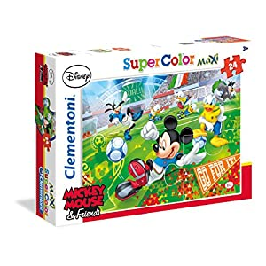 Clementoni 24465 Mickey Sport Maxi Puzzle 24 Pezzi