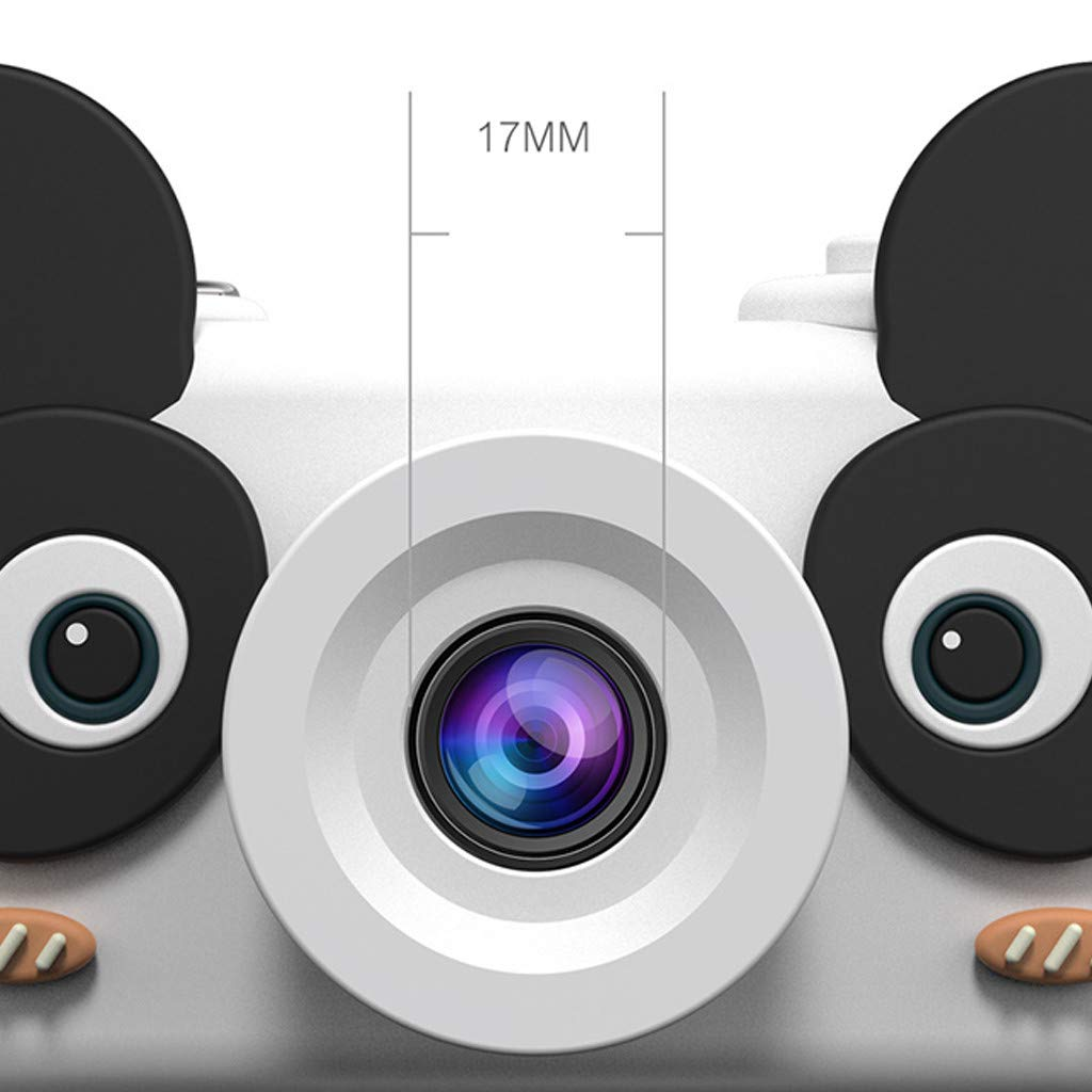 NiceBUY Kids Camera Toys for Boys and Girls Selfie Camera Birthday Gift Anti-Drop Protective Shell 2.0 Inch Screen 8MP HD Video Camera Gifts Lovely Animal Design (Panda) by NiceBUY (Image #2)