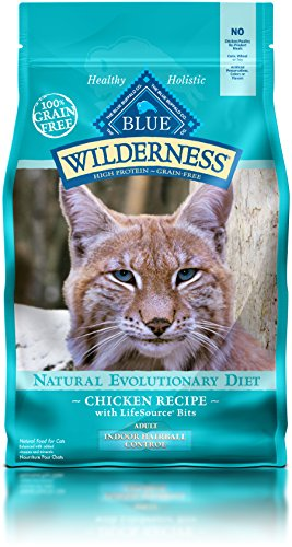 BLUE Wilderness Adult Indoor Control Hairball Grain Free Chicken Dry Cat Food 5-lb