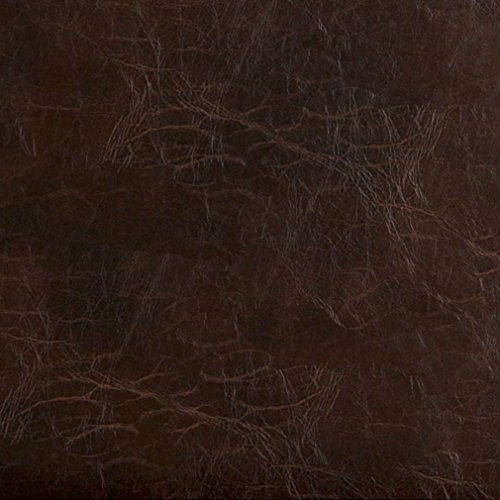 - G491 Brown Distressed Leather Look Upholstery Grade Recycled Leather (Bonded Leather) by The Yard