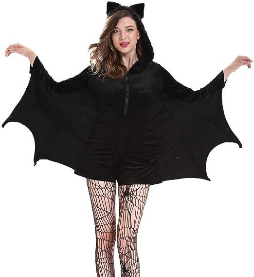 BaojunHT - Disfraz de murciélago para Mujer con Capucha de Felpa ...