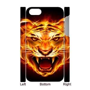 Iphone 4,4S Flame 3D Art Print Design Phone Back Case Custom Hard Shell Protection FG070673